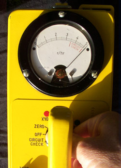 Circuit Check testing of Civil Defense Survey Meters.