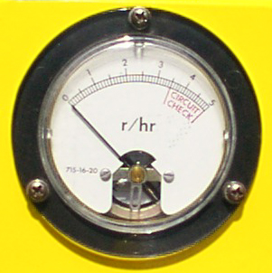 Close-up of Civil Defense Survey Meter.