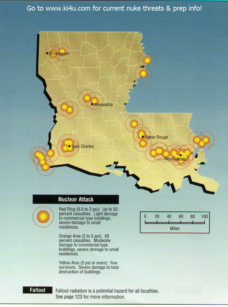 Nuclear War Fallout Shelter Survival Info for Louisiana with FEMA